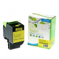 Compatible Lexmark 80C1SY0 Jaune (2K) Fuzion (HD)