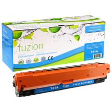 Recyclée HP CE741A Toner Cyan Fuzion (HD)