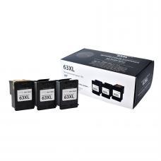 Recyclée HP63 XL Noir (3 cartouches, 1 tête)