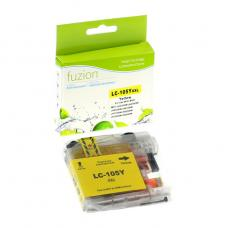 Compatible Brother LC105 XL Jaune Fuzion (HD)